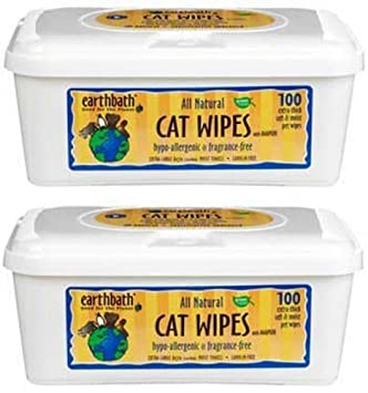 Earthbath All Natural Cat Wipes, 100 Wipes