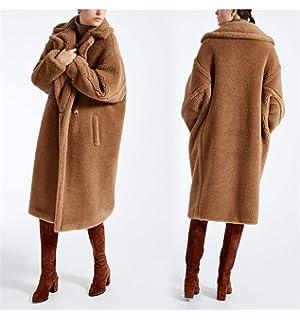 85362ee4e9dbb Faux Fur Coat Teddy Bear Fleece Jackets Womens Overcoat Warm Long ...