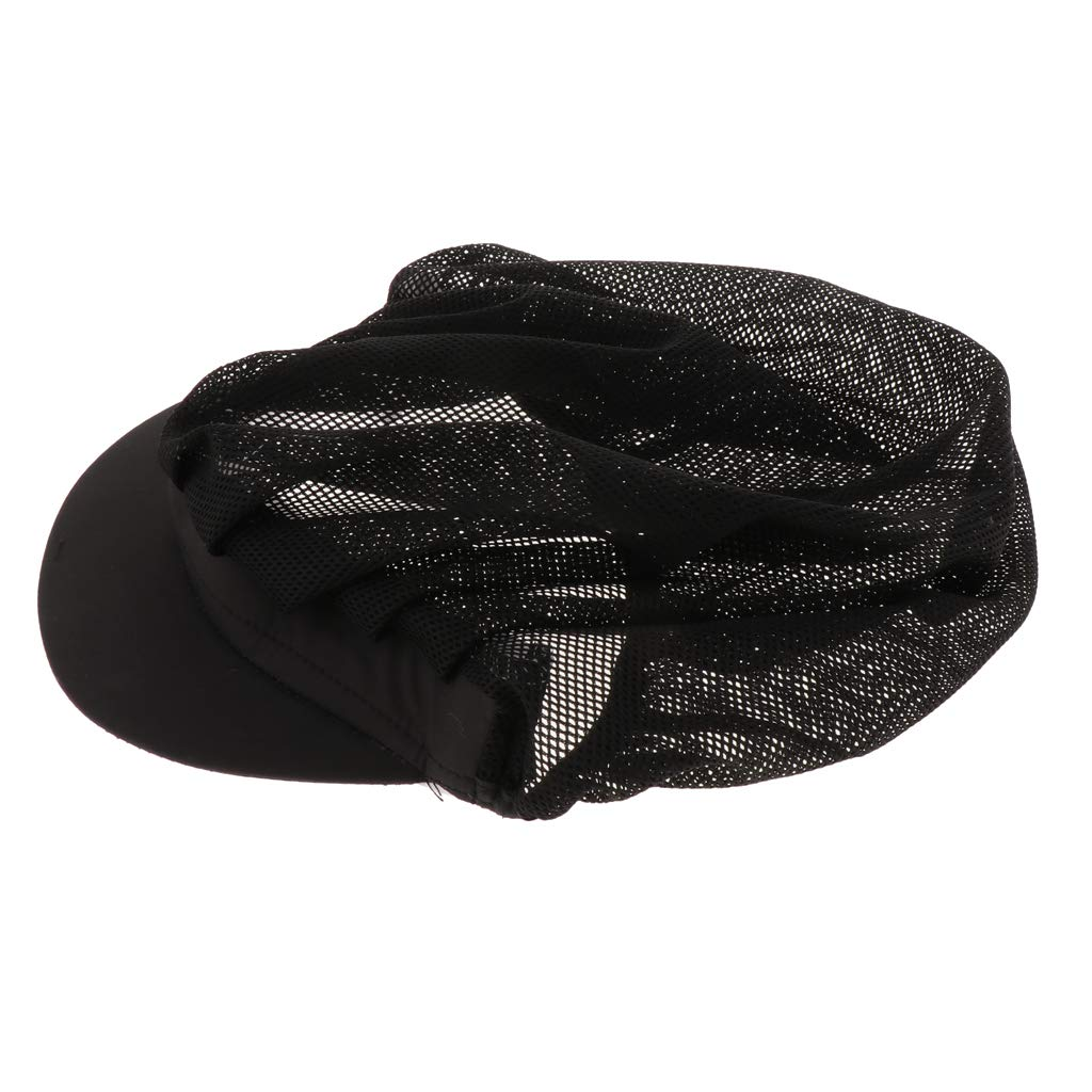 non-brand Sharplace 2 Pezzi Cappello Berretto Elastico Testa Protettiva Abiti per Cuoco Chef Albergo Ristorante Nero