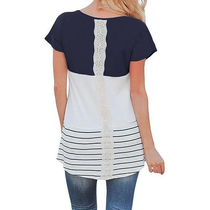 Juleya Camiseta de Lactancia Maternity Clothing Tops de enfermería para Mujer Embarazada Top de Encaje Dark