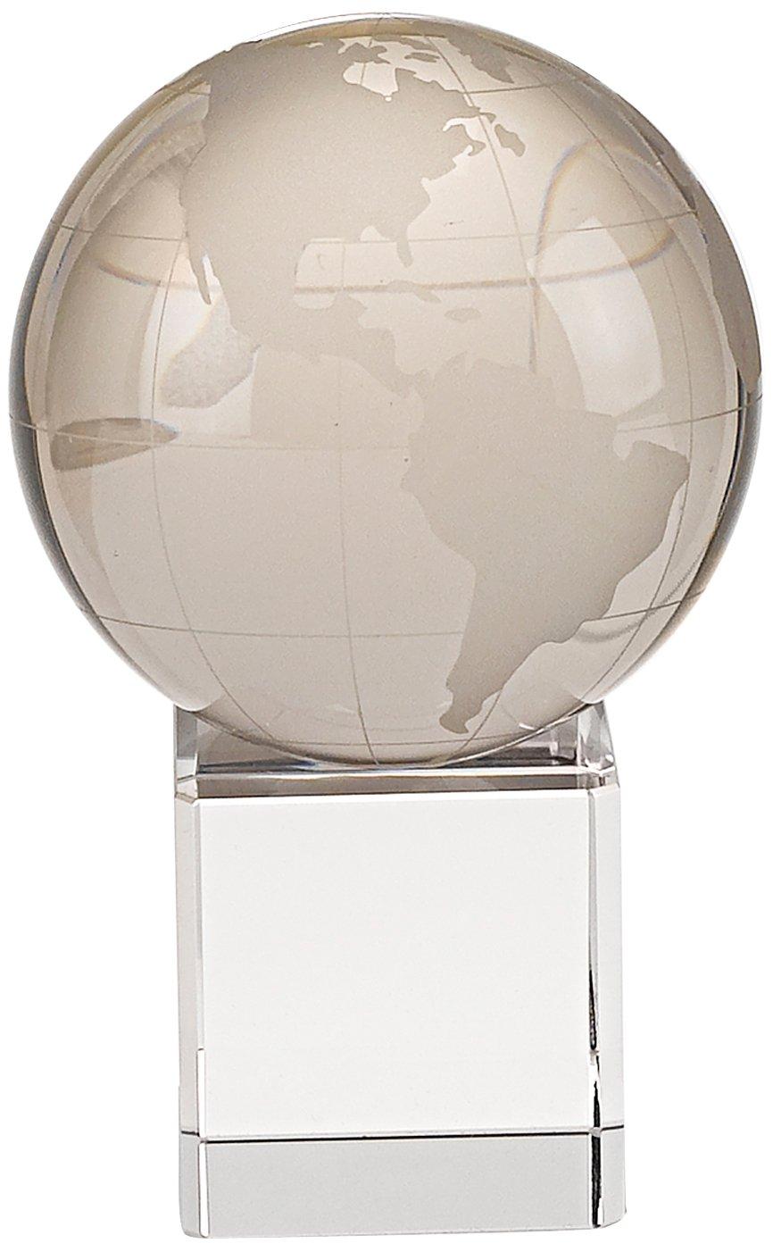 Badash Crystal Globe on Crystal Base 4.5 inches tall