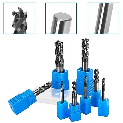 Schaftfräser End Mill Werkzeuge Metallbearbeitung Heimwerker Schaft HRC45 10mm
