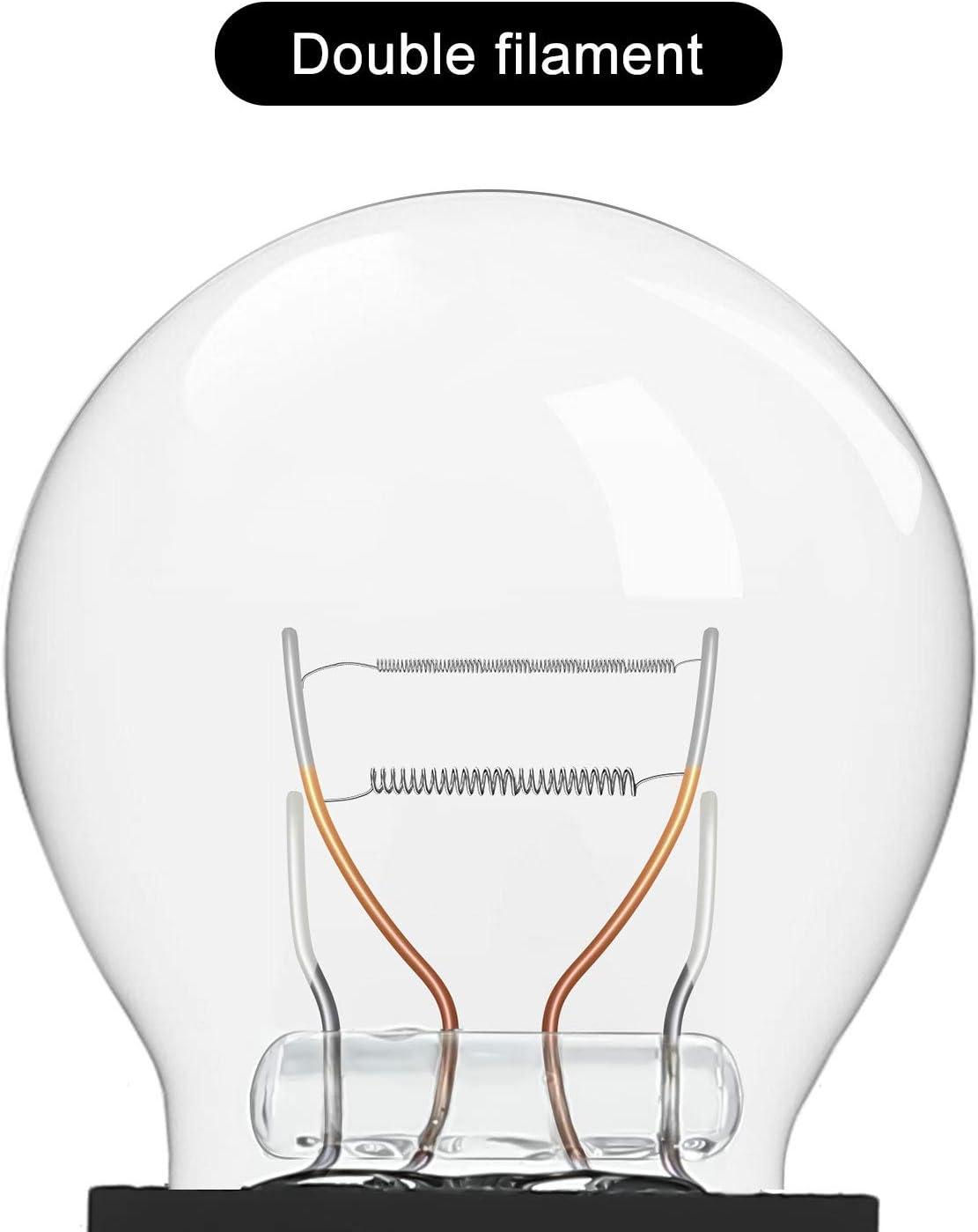 10 Pi/èces 3157LL Ampoule 3157 Ampoule Miniature Mini Ampoule Longue Dur/ée pour Feux de Freinage