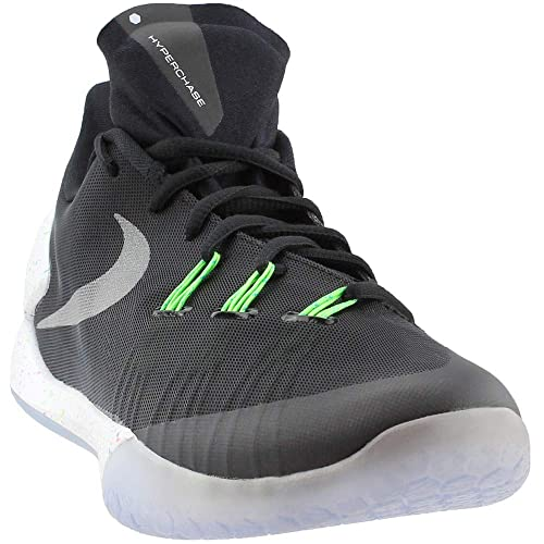 f7ec33301e Nike Hyperchase Premium prm Men Basketball Shoes New Black Black White Metallic  Silver 10 D(M) US  Buy Online at Low Prices in India - Amazon.in