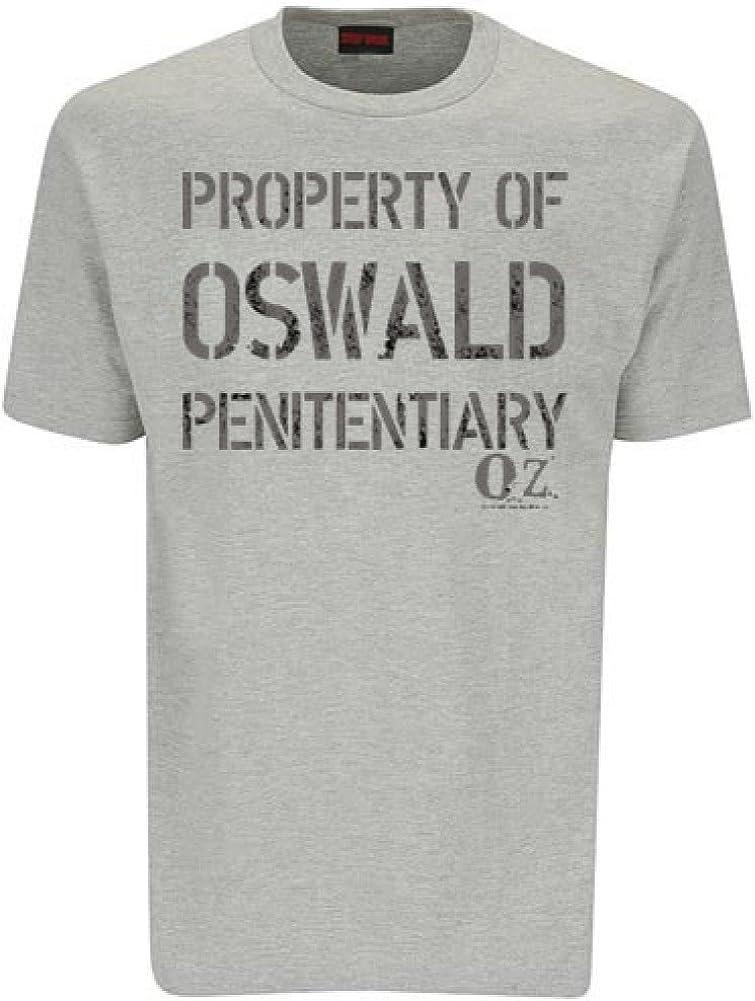 Oz Unisex oz propiedad de Oswald penitenciario de camiseta: Amazon.es: Ropa y accesorios
