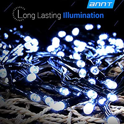 ANNT Solar Christmas Lights 72ft 22m 200LED / 55ft 17m 100LED Solar Fairy String Lights for Outdoor, Gardens, Homes, Wedding, Christmas Party, Waterproof