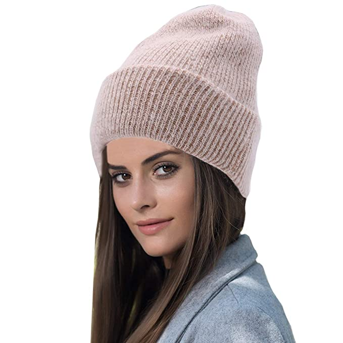 Image Unavailable. Image not available for. Color  Farlenoyar Women Girls  Winter Warm Hats Angora Rabbit ... 3296ebcf4d6d