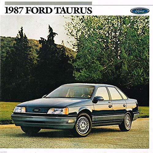 - 1987 FORD TAURUS L, GL, LX & MT-5 SEDANS & WAGONS PRESTIGE VINTAGE COLOR SALES BROCHURE - 009-Ann. 8/86 - USA - EXCELLENT ORIGINAL !!