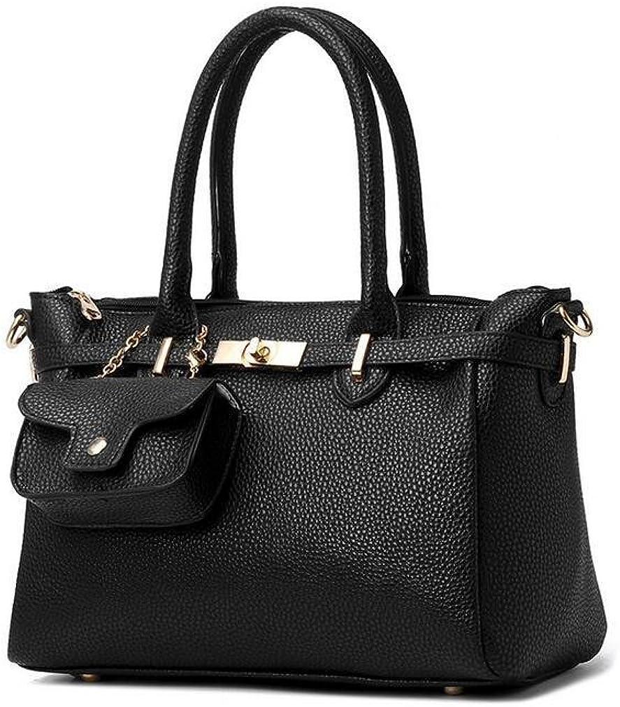 GINSIO Womens PU Peather Casual Simple Style Shoulder-handbags cross-body-handbags