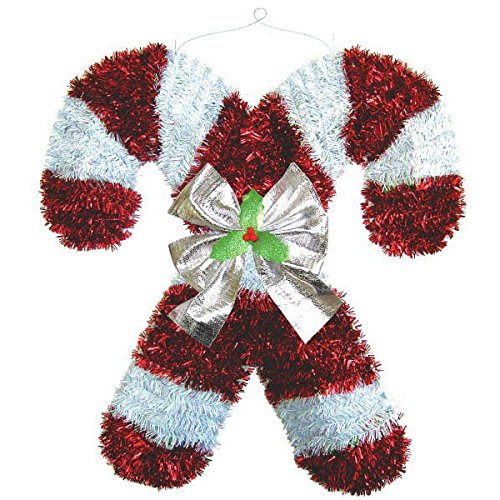 Deluxe Tinsel Candy Canes -