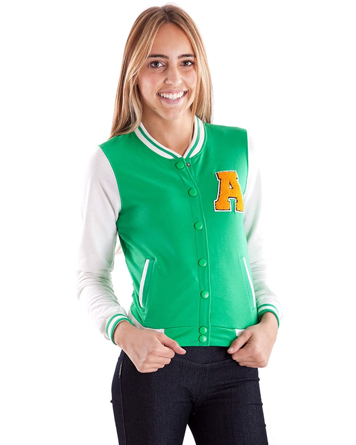 Clothes Effect Women's Jersey Letterman A Jacket