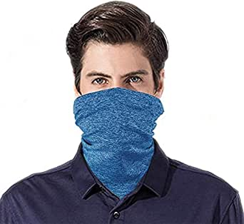 FEOYA Face Masks with Safety Filters Men Face Bandanas Neck Gaiter Face Shields Scarf Sports Protect from Dust Sun