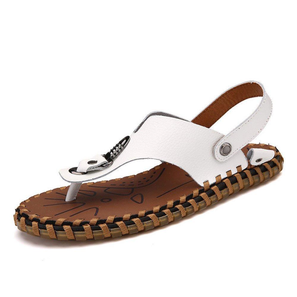 Sandalias De Los Hombres Zapatillas De Verano Zapatos Casuales 38 EU|White