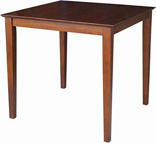 International Concepts Counter Height Shaker Leg Solid Wood Table