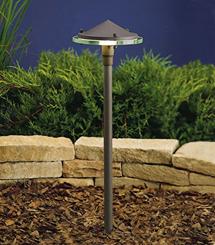 Kichler 15317AZT Path & Spread 1-Light 12V, Textured Architectural Bronze