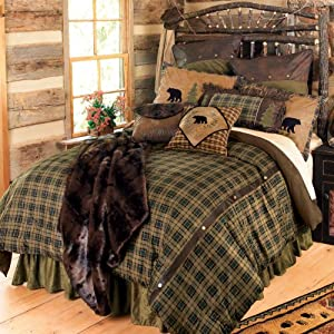 Alpine Bear Bed Set - Queen - Lodge Bedding Linens