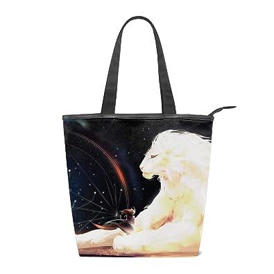 1ca9534d2b408 Canvas Tote Bag African Lion Constellation Handbag ... - Amazon.com