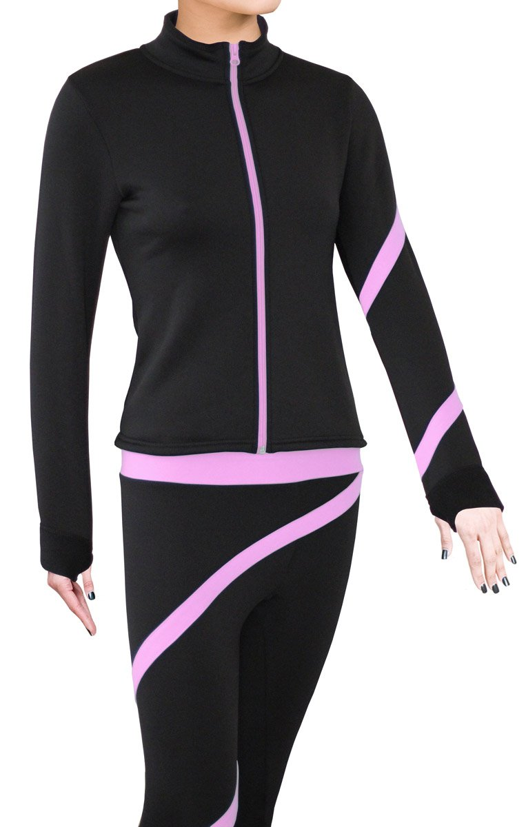 ny2 Sportswear Figure Skating Polartec Polar Fleece Spiral Jacket (Lavender Pink, Child Extra Small) by ny2 Sportswear