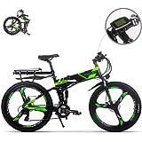 eBike_RICHBIT RLH-860 bicicleta eléctrica bicicleta de montaña plegable MTB e bicicleta 36V * 250W 12.8Ah litio - batería de hierro con rueda integrada de magnesio de 26 pulgadas