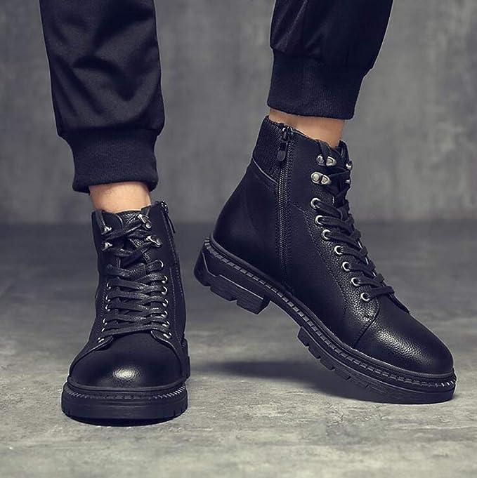 Amazon.com : Hy Mens Shoes, Artificial PU Thick Bottom Slip ...