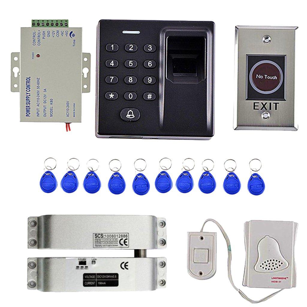 MagiDeal Universal 500 Fingerprint Password Door Access Control Security System 10Keys Card Smart Lock Work Off-Line