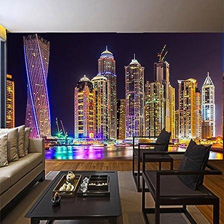 ohcde dheark custom 3d photo wallpaper dubai night view city