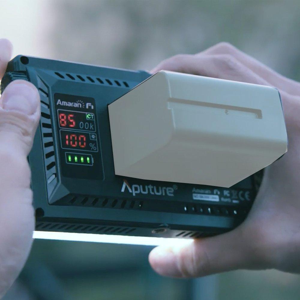 Aputure Amaran AL-F7 On Camera LED Video Light Color Temperature 3200-9500K CRI/TLCI 95+ Led Panel Versatile On-Camera LED Light (Updated version of Aputure Al-H198) by Aputure (Image #7)