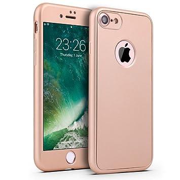 Adamarkeer Funda iPhone 6S / 6S Plus Carcasa Silicona 360 Degree Protección Cuerpo Entero Cobertura + Vidrio Templado Protector de Pantalla para ...