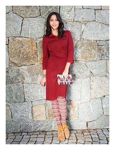 Brigitte von Boch - Damen - Millet Stretch-Kleid burgund