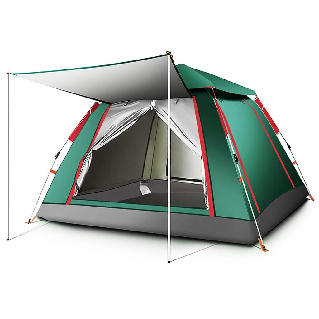 Tenda da Campeggio Automatica Pop-up da 3-4 Persone Tenda da Campeggio A Cupola Antipioggia Leggera da Esterno (colore   verde, Dimensioni   215X215X142cm)