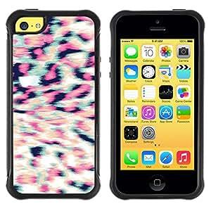 """Pulsar iFace Series Tpu silicona Carcasa Funda Case para Apple iPhone 5C , Patrón Piel 3D estereoscópico"""""""