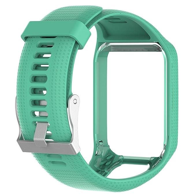 KOBWA Correa de Repuesto para Reloj Inteligente Tomtom Runner 2/Runner 3/Spark 3/Adventurer/Golfer 2 Sport GPS Watch: Amazon.es: Hogar