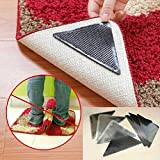 Talent_Star Anti Skid Grippers, 4 Pairs Rug Carpet Mat Grippers Non Slip Anti Skid Reusable Washable Silicone Grip