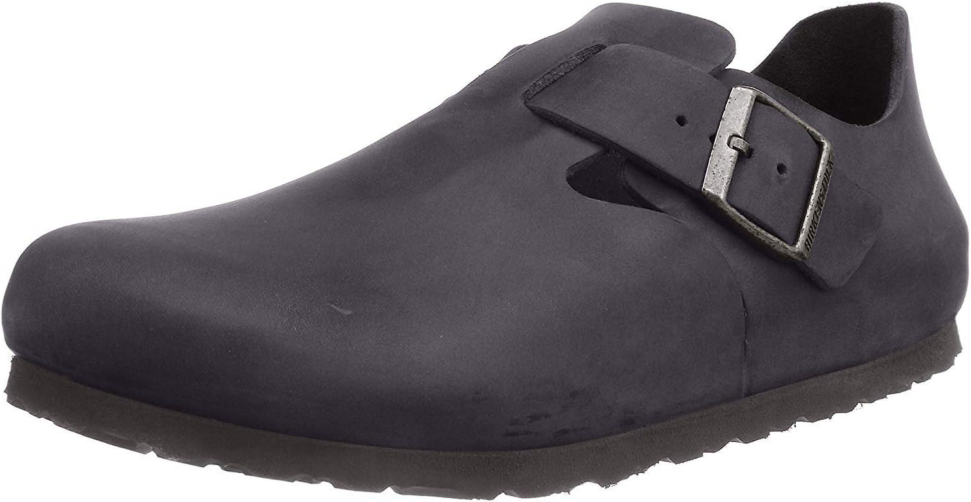 London Black Leather Sandals 41 Narrow