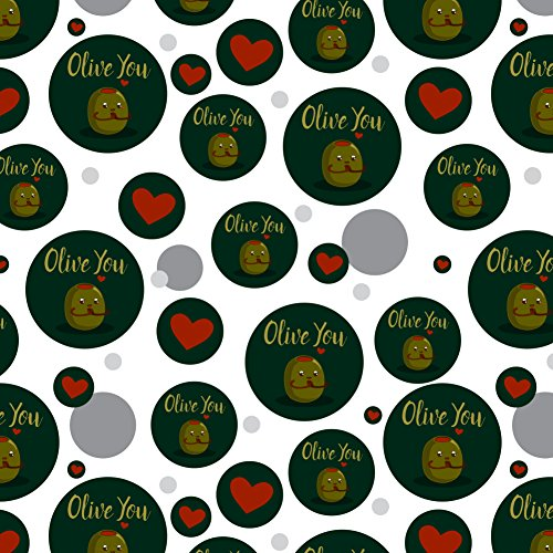GRAPHICS & MORE Olive You I Love You Funny Premium Gift Wrap Wrapping Paper Roll