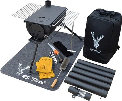 Estufa para tienda de campaña, juego de iniciación, estufa de leña, horno de camping, cocina de camping, tienda de campaña, chimenea portátil,