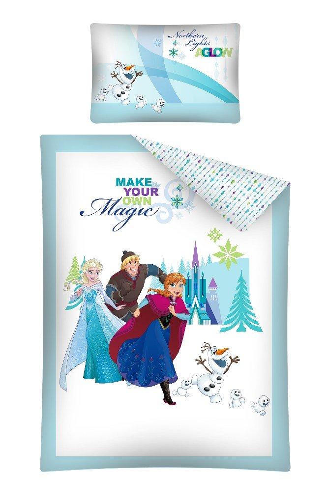 Parure de lit 2 Pièces Bébé Reine des Neiges 100x135 cm - Housse de couette + taie Disney