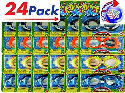 2GoodShop Animal Swim Goggles Dive Bundle (Pack of 24) by JA-RU. Summer Pool & Sea Underwater Goggle 1172-24