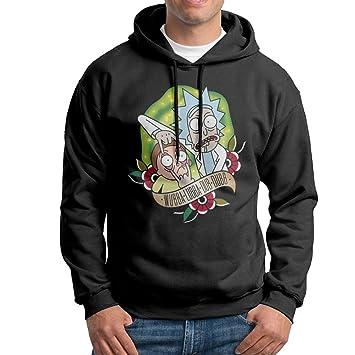 Rick y Morty chaquetas de forro polar sudadera con capucha para hombre negro - - XXL: Amazon.es: Ropa y accesorios