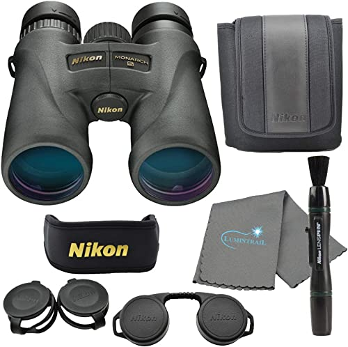 Nikon Monarch 5 8×42 Binoculars 7576 , Black Bundle with a Nikon Lens Pen and Lumintrail Cleaning Cloth