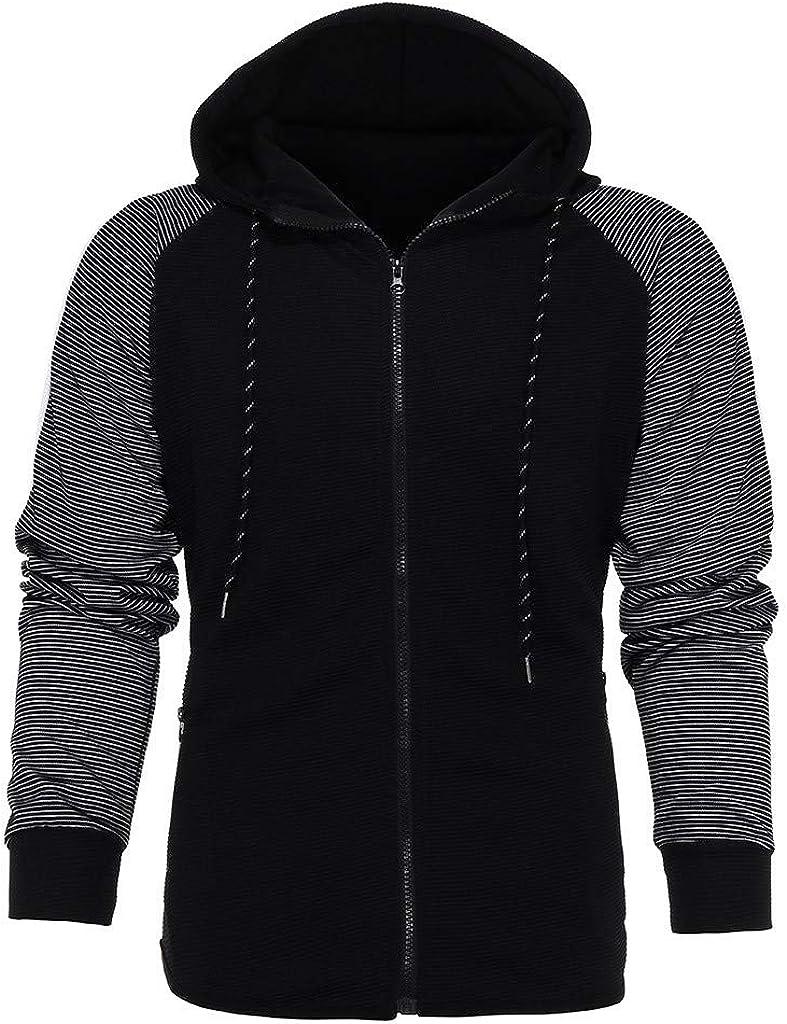 BingYELH Mens Sport Suit Tracksuit Mens Autumn Splicing Zipper Hoodie Sweatshirt Top Pants Sets