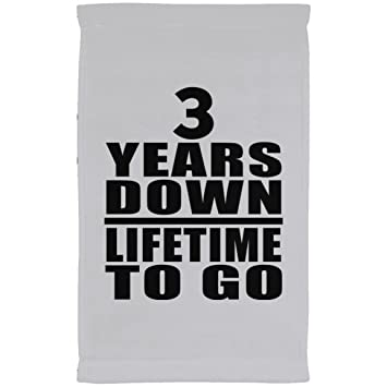 Designsify Toalla de Aniversario, 3 Años de Vida para IR – Toalla de Cocina,
