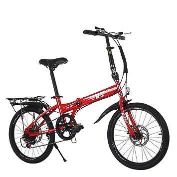 LETFF Bicicleta Plegable para Adultos, Bicicleta para pasajeros de 20 Pulgadas para Hombres y Mujeres