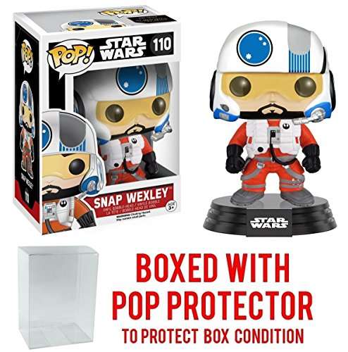 Funko Pop! Star Wars: The Force Awakens - Snap Wexley X-Wing Pilot #110 Vinyl Figure (Bundled with Pop BOX PROTECTOR CASE)