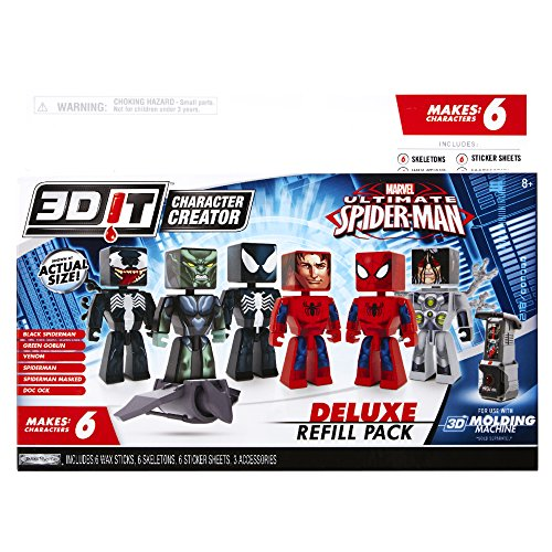3D Character Creator Marvel Deluxe Refill Pack Novelty (Marvel Deluxe Kids Wolverine Costumes)