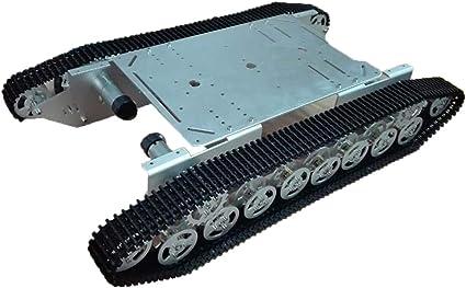 Programable Robot Kit T800 Metal Wall-E Tanque Diez Pares De Ruedas De Soporte De Carga Y La Pista, Caterpillar Chasis De Orugas Vehículo Plataforma Móvil Sobre Orugas Wall-E Bricolaje Juguete RC: Amazon.es: