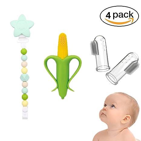 INCHANT Baby Set de Cuidado Oral - Formación Cepillo de dientes y Mordedor y 2 PCS