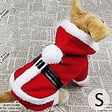 2015 New Santa Costume Pet Dog Supplies Clothes Christmas Gift Cute Warm Winter Coat Hoodie Jacket^.XL
