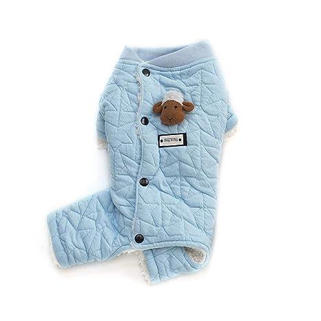 MXECO Diseño único Ropa para Perros Ovejas Decorativas Mascotas Abrigos Algodón Suave Tops para Perros Moda