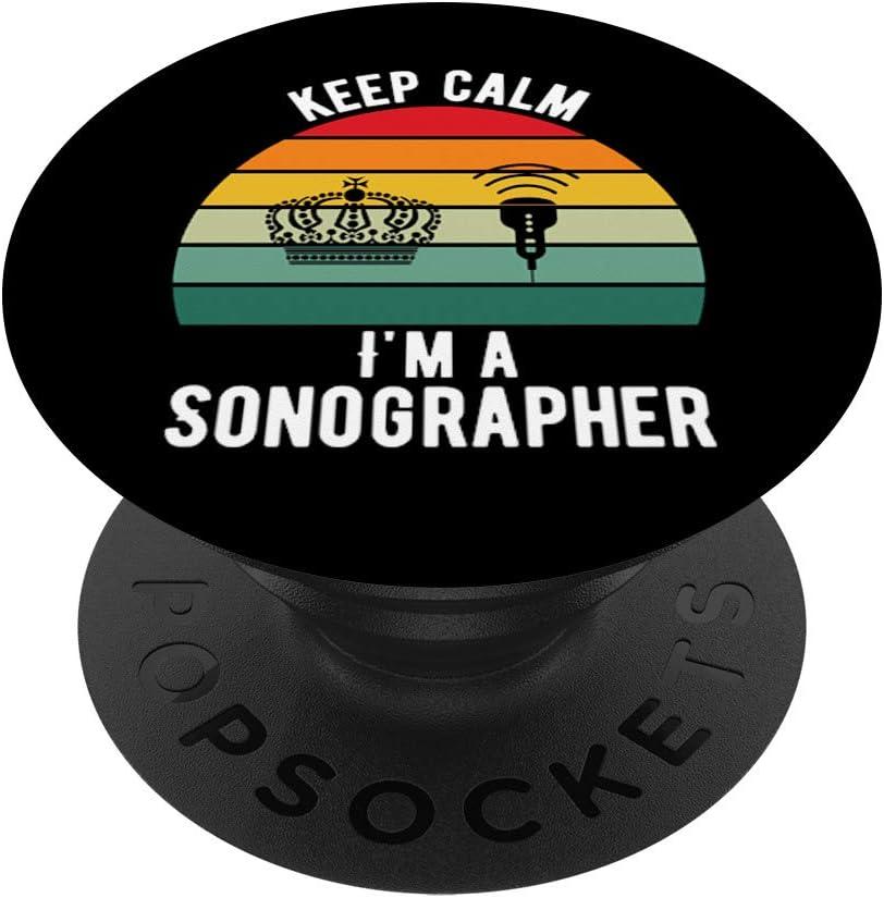 El superpoder que tengo es ser técnico en ecografía PopSockets Agarre y Soporte para Teléfonos y Tabletas